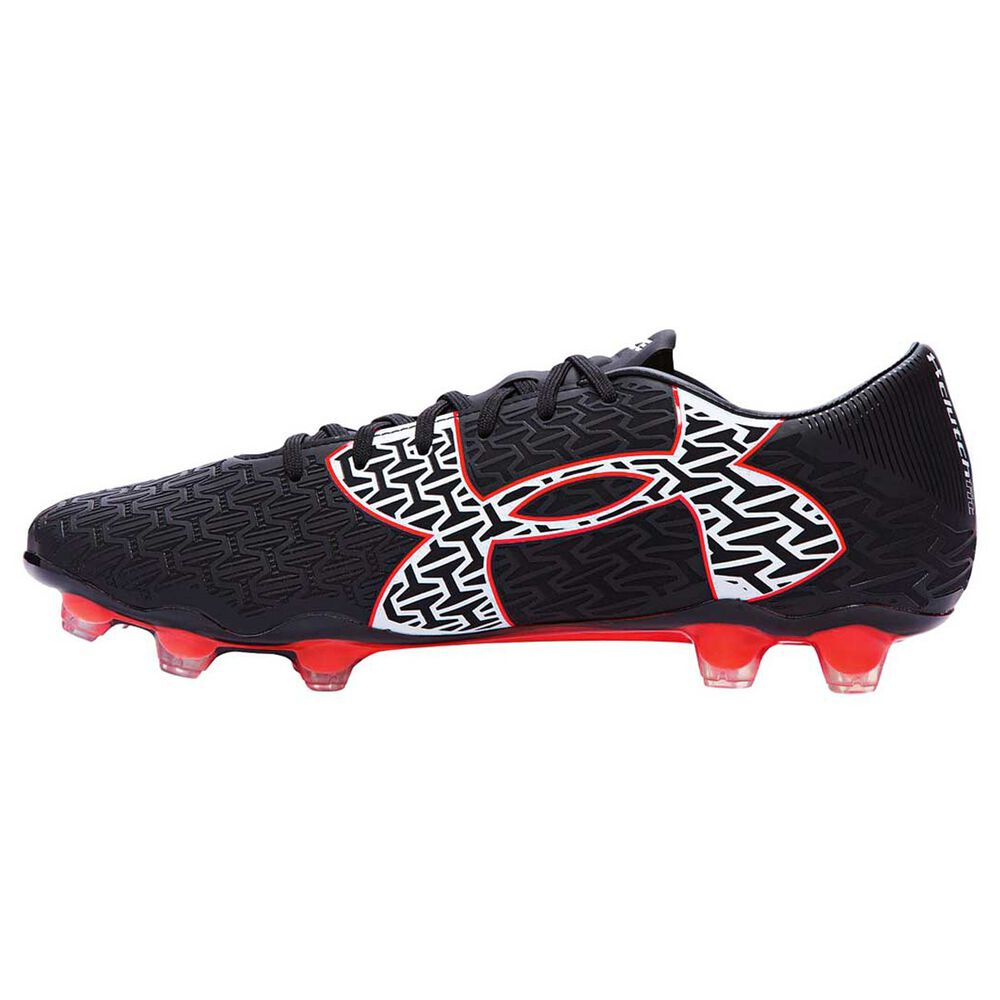 Under Armour ClutchFit Force Mens Football Boot Black   Red US 8.5 Adult 54d7db2ce8