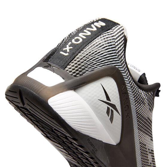 Reebok Nano X1 Grit Mens Training Shoes, White/Black, rebel_hi-res