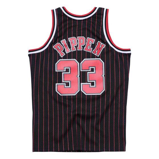 Chicago Bulls Pippin 33 Pinstripe Swingman Jersey, Black, rebel_hi-res