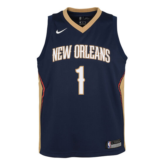 Nike New Orleans Pelicans Zion Williamson 2019/20 Kids Icon Edition Swingman Jersey, Navy, rebel_hi-res