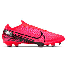 Nike Mercurial Vapor XIII Elite Football Boots Black / Red US Mens 4 / Womens 5.5, Black / Red, rebel_hi-res