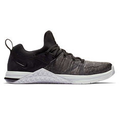 Nike Metcon Flyknit 3 Womens Training Shoes Black / Silver US 6, Black / Silver, rebel_hi-res