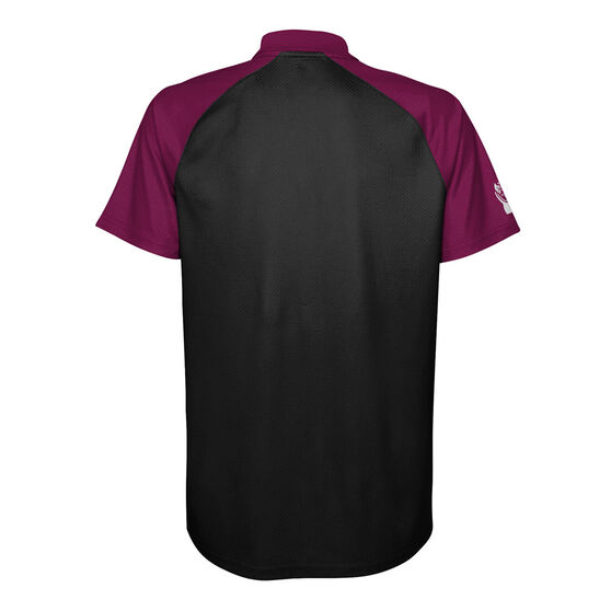 Brisbane Broncos 2021 Mens Polo, Black, rebel_hi-res