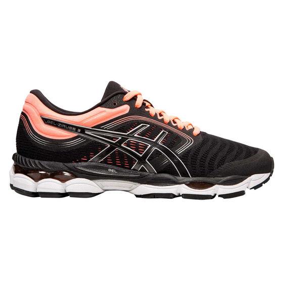 Asics GEL Ziruss 3 Womens Running Shoes Black / Orange US 8, Black / Orange, rebel_hi-res
