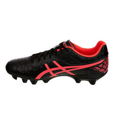Asics Lethal Speed Mens Football Boots Black / Pink US Mens 9.5 / Womens 11, Black / Pink, rebel_hi-res