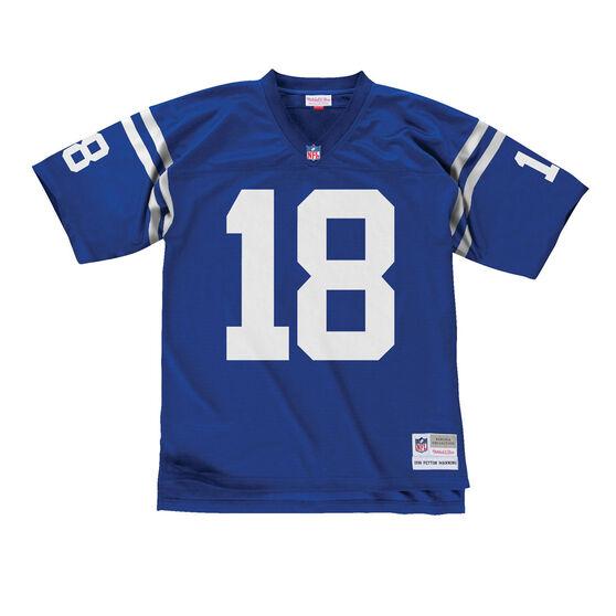 Indianapolis Colts Peyton Manning Mens Legacy Jersey, Blue, rebel_hi-res