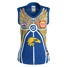 West Coast Eagles 2020 Mens Indigenous Guernsey Yellow S, Yellow, rebel_hi-res