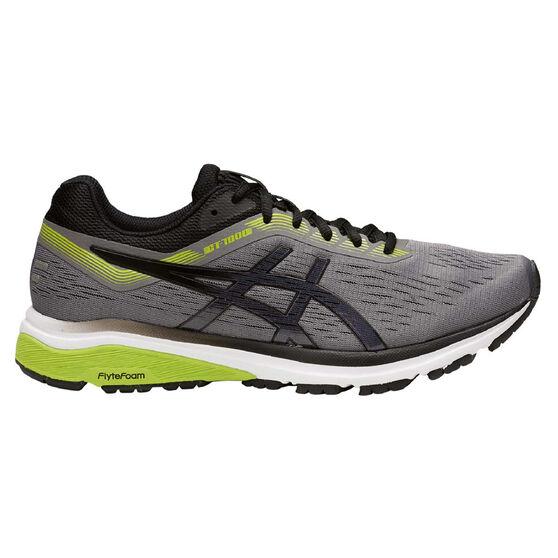 Asics GT 1000 7 2E Mens Running Shoes Grey / Green US 14, Grey / Green, rebel_hi-res