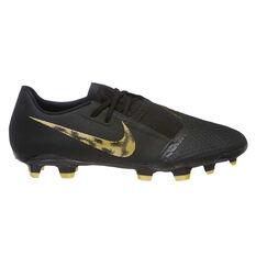 Nike Phantom Venom Academy Mens Football Boots Black / Gold US Mens 7 / Womens 8.5, Black / Gold, rebel_hi-res