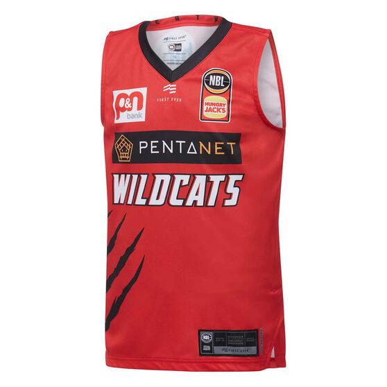 Perth Wildcats 2019/20 Kids Home Jersey, Red, rebel_hi-res