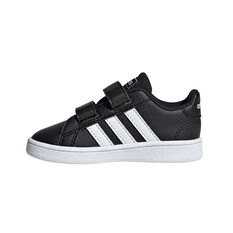 adidas Grand Court Toddler Shoes, Black / White, rebel_hi-res