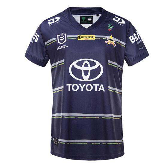 North Queensland Cowboys 2021 Womens Defence Jersey, Navy, rebel_hi-res