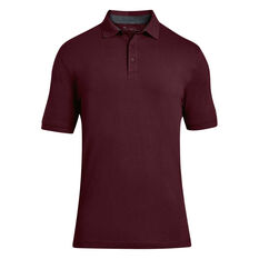 Under Armour Mens Charged Cotton Pique Polo Red S, Red, rebel_hi-res