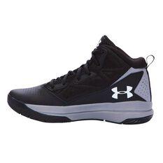 Under Armour Jet Edge Junior Basketball Shoes Black / Grey US 4, Black / Grey, rebel_hi-res