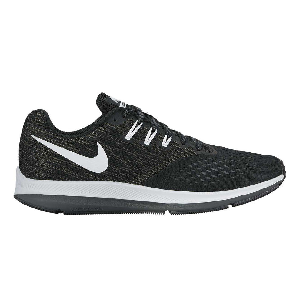 6fa98e6db50 Nike Air Zoom Winflo 4 Mens Running Shoes Black   White US 8.5 ...