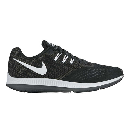a927e7100466 Nike Air Zoom Winflo 4 Mens Running Shoes Black   White US 8.5 ...