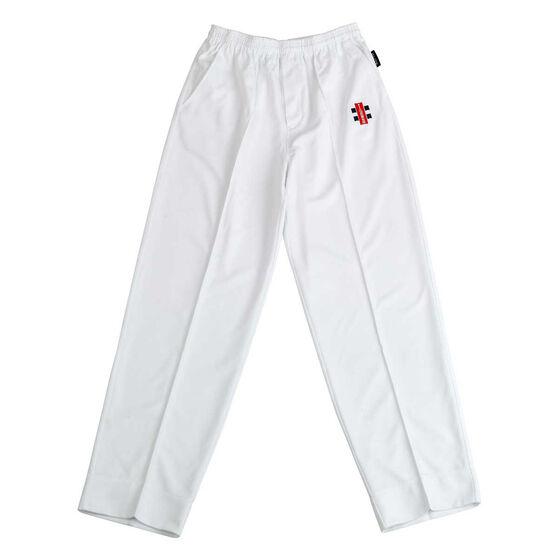 Gray Nicolls Junior Elite Cricket Pants, White, rebel_hi-res