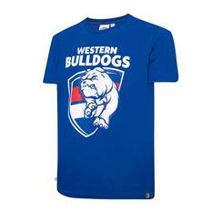 Western Bulldogs Mens Supporter Logo Tee Blue S, Blue, rebel_hi-res