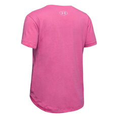 Under Armour Girls Branded Repeat Tee Pink XS, Pink, rebel_hi-res