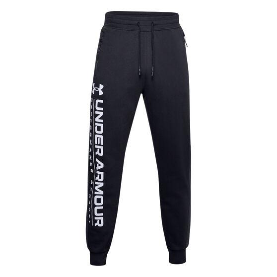 Under Armour Mens Rival Max Fleece Track Pants, Black, rebel_hi-res