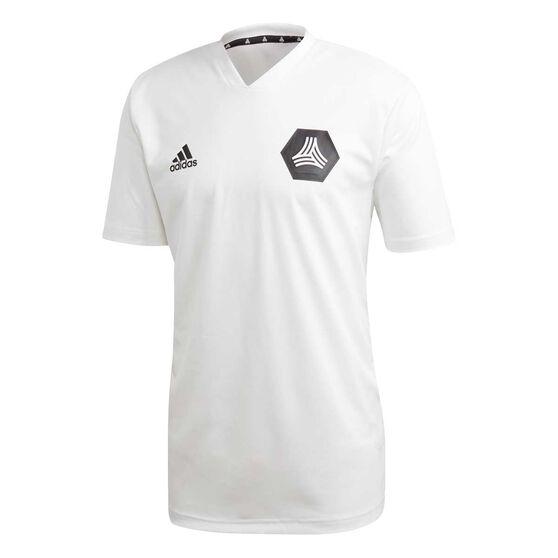 adidas Mens TAN Training Jersey, White, rebel_hi-res