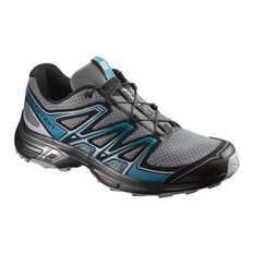 Salomon Wings Flyte 2 Mens Trail Trail Running Shoes Grey / Blue US 10, Grey / Blue, rebel_hi-res