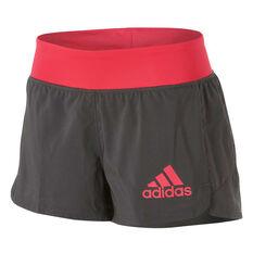adidas Womens 2 in 1 Woven Shorts Grey XS, Grey, rebel_hi-res