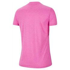 Nike Womens Dri-FIT Legend Training Tee Pink XS, Pink, rebel_hi-res