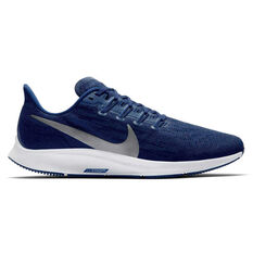 Nike Air Zoom Pegasus 36 Mens Running Shoes Blue / Silver US 7, Blue / Silver, rebel_hi-res