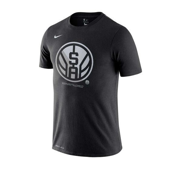 San Antonio Spurs Mens Dry Logo Tee, Black, rebel_hi-res