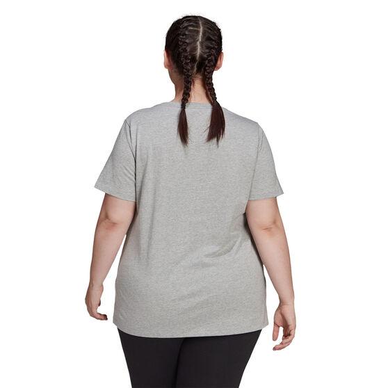adidas Womens Essentials Logo Tee Plus, Grey, rebel_hi-res