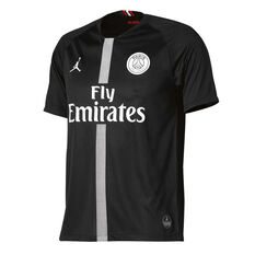 Paris Saint Germain FC 2018/19 Air Jordan Mens 3rd Jersey Black S, Black, rebel_hi-res