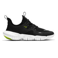 Nike Free RN 5.0 Kids Running Shoes Black / White 4, Black / White, rebel_hi-res