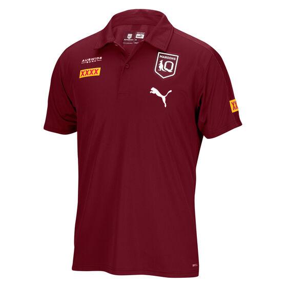 QLD Maroons State of Origin 2021 Mens Team Polo Maroon M, Maroon, rebel_hi-res
