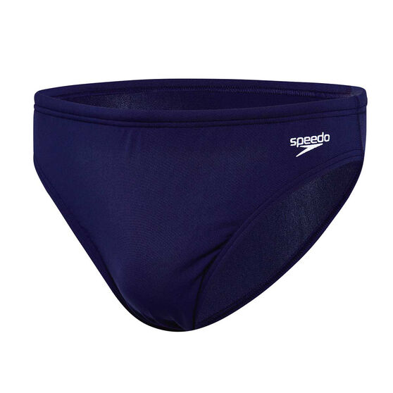 Speedo Mens Endurance 5cm Swim Briefs, Navy, rebel_hi-res