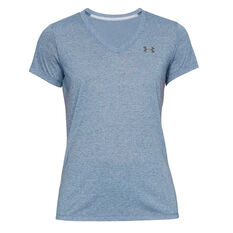 Under Armour Womens Threadborne Train Tee Blue XS, Blue, rebel_hi-res