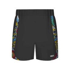 Indigenous All Stars 2019 Mens Training Shorts Black / Multi S, Black / Multi, rebel_hi-res