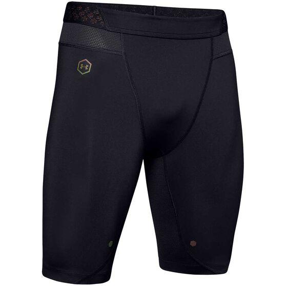 Under Armour Mens Rush Compression Shorts, Black, rebel_hi-res