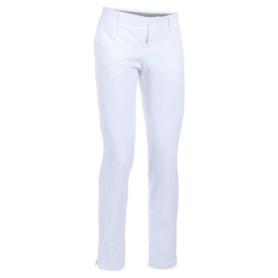 Under Armour Womens UA Links Golf Pants, White, rebel_hi-res
