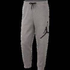 Nike Mens Jordan Jumpman Logo Fleece Pants Carbon XS, Carbon, rebel_hi-res
