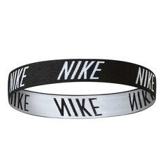 Nike Womens Logo Headband Black / White OSFA, , rebel_hi-res