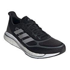 adidas Supernova+ Mens Running Shoes, Black/Silver, rebel_hi-res