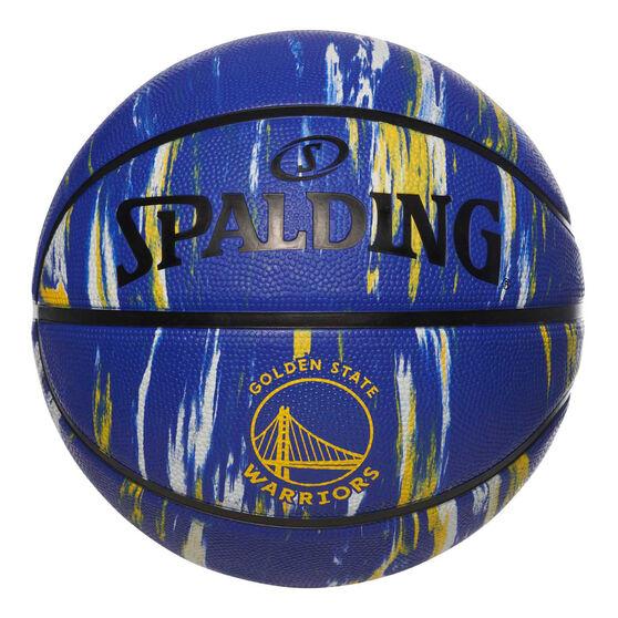 Spalding NBA Team Golden State Warriors Marble Basketball, , rebel_hi-res
