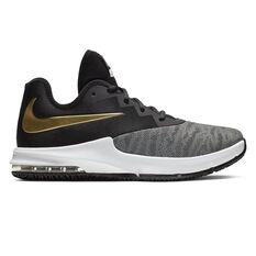 Nike Air Max Infuriate III Low Mens Basketball Shoes Black / Gold US 7, Black / Gold, rebel_hi-res