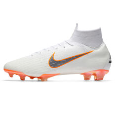 Nike Mercurial Superfly VI Elite Mens Football Boots White / Grey US 7, White / Grey, rebel_hi-res