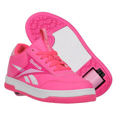 Reebok Court Low Heelys Pink/White US 13, Pink/White, rebel_hi-res
