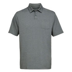 Under Armour Mens Charged Cotton Scramble Polo Grey S, Grey, rebel_hi-res