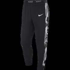 Nike Mens Dri-FIT Tapered Fleece Training Pants Black S, Black, rebel_hi-res