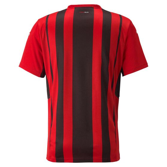 AC Milan 2021/22 Mens Home Jersey, Black/Red, rebel_hi-res