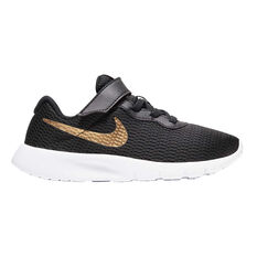 Nike Tanjun Kids Casual Shoes Black / Gold US 12, Black / Gold, rebel_hi-res